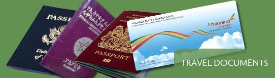 Travel documents passports